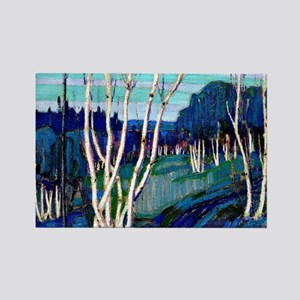Tom Thomson - Silver Birches Rectangle Magnet