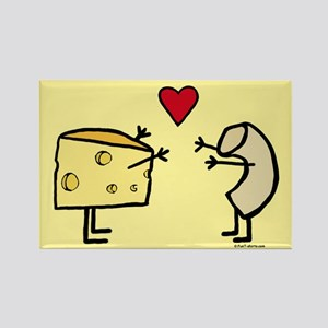 Macaroni and Cheese Love Rectangle Magnet