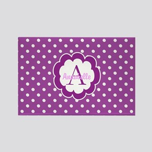 Purple Polka Dot Magnets