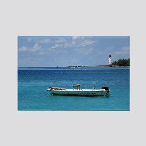 Caribbean Blue Rectangle Magnet