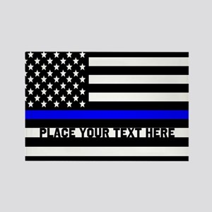 Thin Blue Line Flag Rectangle Magnet
