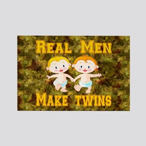 Real Men Make Twins Rectangle Magnet
