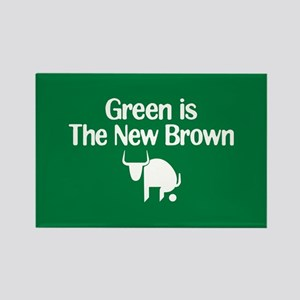 Green is The New Brown Rectangle Magnet