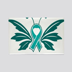 Sexual Assault Awareness Butterfly Ribbon Magnets