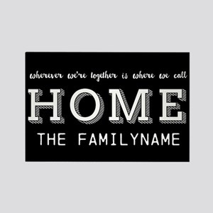 Home Is... Personalized Rectangle Magnet