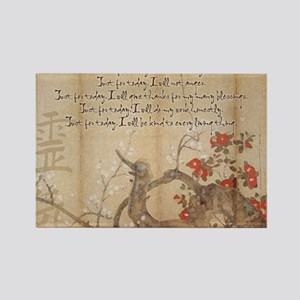 reiki principles plum tree LARGE  Rectangle Magnet