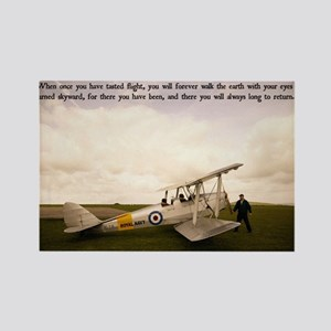 Tiger Moth Getting ready to fly Rectangle Magnet