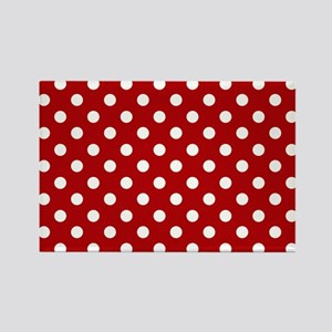 red-polkadot-laptop-skin Rectangle Magnet