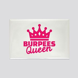 Burpees queen Rectangle Magnet