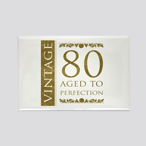 Fancy Vintage 80th Birthday Rectangle Magnet