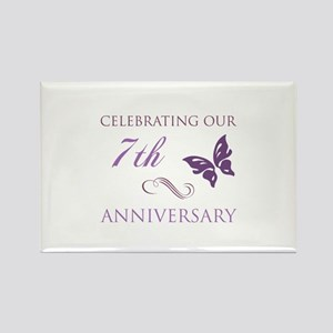 7th Wedding Anniversary.Wedding Anniversary 7th Magnets Cafepress