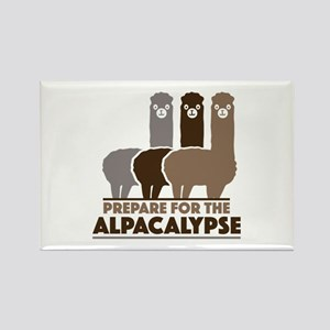 Prepare For The Alpacalypse Rectangle Magnet