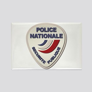 Police Nationale France Police wi Rectangle Magnet