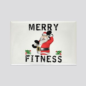 Merry Fitness Santa Magnets