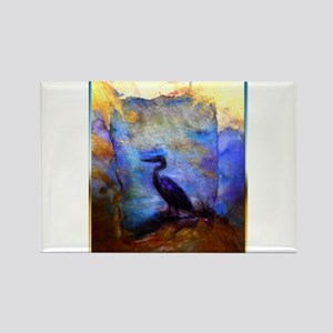 Beautiful great heron, wildlife art Magnets