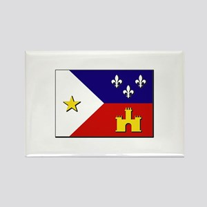 Flag of Acadiana Rectangle Magnet
