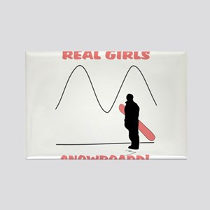 Real Girls Snowboard! Rectangle Magnet