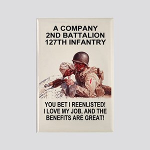 ARNG-127th-Infantry-A-Co-You-Bet- Rectangle Magnet