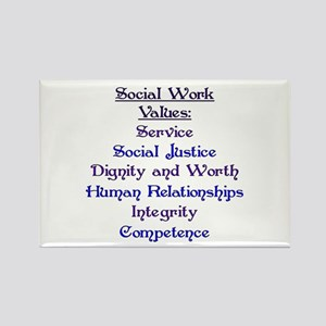Social Work Values Rectangle Magnet
