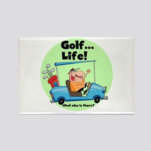 Golf is Life Rectangle Magnet