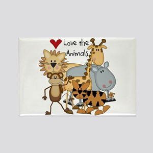 Love the Animals Rectangle Magnet