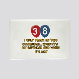 38 year old birthday designs Rectangle Magnet