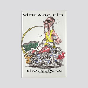 Shovelhead Vintage Tin Rectangle Magnet