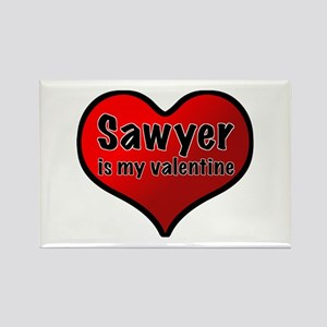 Sawyer is my Valentine Rectangle Magnet