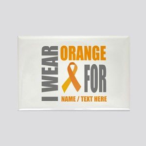 Orange Awareness Ribbon Customize Rectangle Magnet