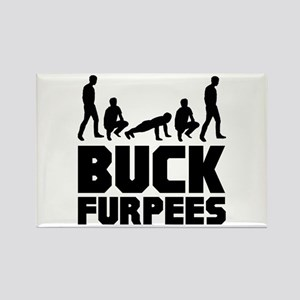 Buck Furpees Burpees Fitness Rectangle Magnet
