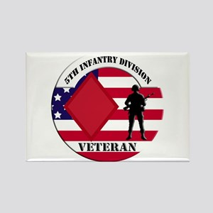 5th Infantry Division Veteran Rectangle Magnet
