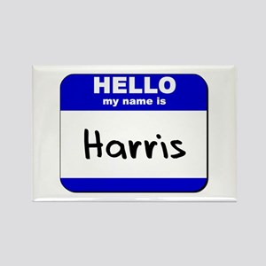 hello my name is harris Rectangle Magnet