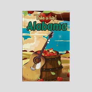 Alabama vintage travel poster Rectangle Magnet