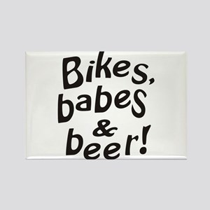 bikes babes beer Magnets