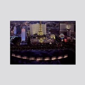 Las Vegas by Night Rectangle Magnet
