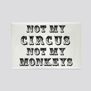 Not Circus Rectangle Magnet