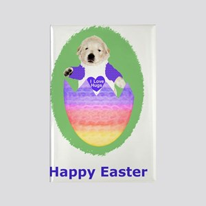 Easter Egg Puppy T-Shirts Rectangle Magnet