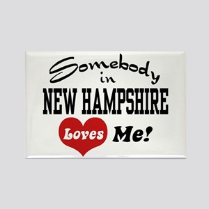 Somebody in New Hampshire Loves Me Rectangle Magne