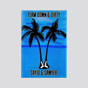 LOST Team Dirty Sayid Sawyer Rectangle Magnet