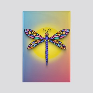 Dragonfly1 - Sun Rectangle Magnet