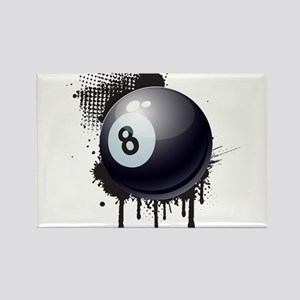 Abstract Black Ink Splotch with BILLIARD B Magnets