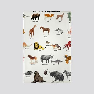 Animal pictures alphabet Rectangle Magnet