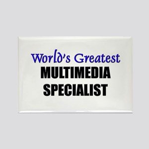 Worlds Greatest MULTIMEDIA SPECIALIST Rectangle Ma