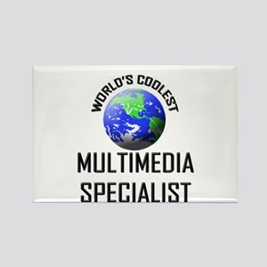 World's Coolest MULTIMEDIA SPECIALIST Rectangle Ma