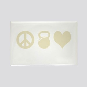 Peace Weight Love Rectangle Magnet