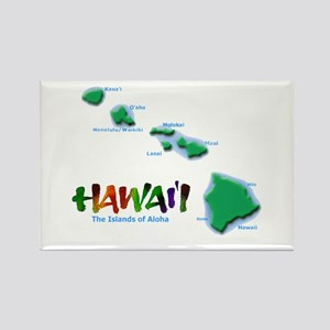 Hawaii Islands Rectangle Magnet