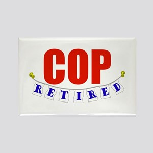 Retired Cop Rectangle Magnet