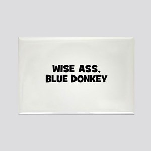 Wise Ass, Blue Donkey Rectangle Magnet