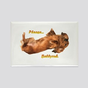 Bellyrub Doxie Rectangle Magnet