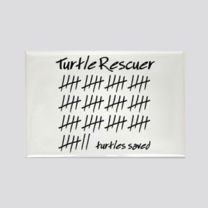 Turtle Rescuer Rectangle Magnet